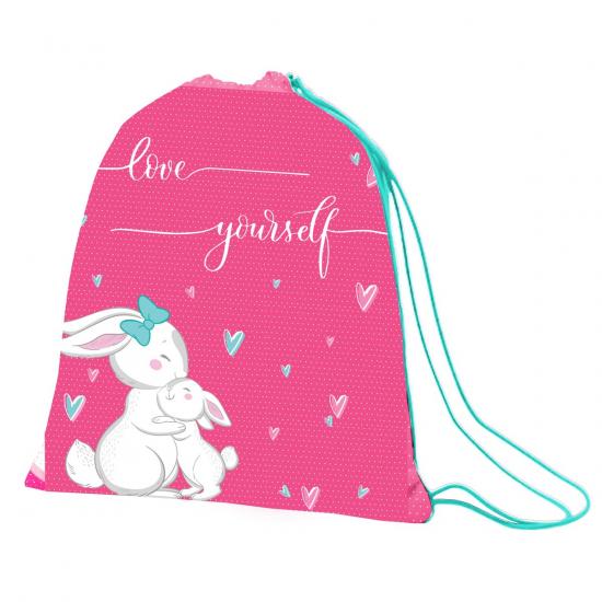 """Сумка для обуви 1Вересня SB-10 """"Bunny"""", розовый/бирюзовый"""