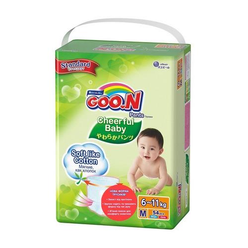 Трусики-подгузники CHEERFUL BABY для детей (размер M, унисекс, 54 шт)